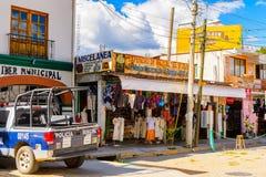 Achitecture of Oaxaca. SANTA MARIA DEL TULE, MEXICO - OCT 31, 2016: Beautiful view of Santa Maria del Tule, Mexico, Valles Centrales region. The name comes from stock photos