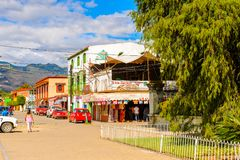 Achitecture of Oaxaca. SANTA MARIA DEL TULE, MEXICO - OCT 31, 2016: Beautiful view of Santa Maria del Tule, Mexico, Valles Centrales region. The name comes from royalty free stock photography