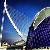 Achitecture. Valencia, lines, bleu, bridge, art royalty free stock images