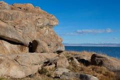 Achitnoor See auf den Mongolian Lizenzfreie Stockfotografie