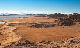 Achitnoor See auf den Mongolian Stockfotos