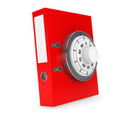 Achive Office Binder with Padlock Royalty Free Stock Images