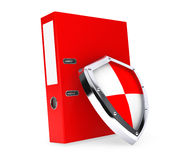 Achive Office Binder with Protection Shield. On a white background Royalty Free Stock Photos