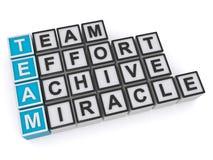 Achive. Team effort achive miracle illustration stock illustration