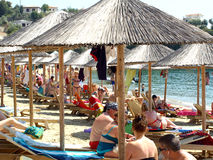 Achladia beach, Skiathos, Greece. Stock Photos