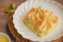 Achma, tarte avec du fromage image libre de droits