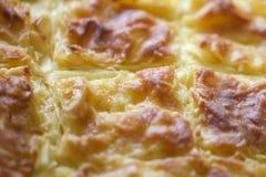 Achma, Torte mit Käse, Lasagne mit Käse, khachapuri Stockfotos