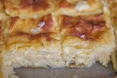 Achma, Torte mit Käse, Lasagne mit Käse, khachapuri Stockbild