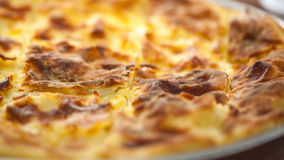 Achma, Torte mit Käse, Lasagne mit Käse, khachapuri, Georgia Stockbild