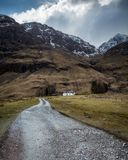 Achnambeithach-Häuschen in Glencoe Schottland Lizenzfreie Stockfotografie