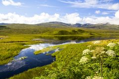 Achnasheen, Шотландия Стоковые Фотографии RF