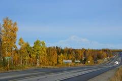 Achorage της Αλάσκας è·¯é 'Š Στοκ Φωτογραφίες