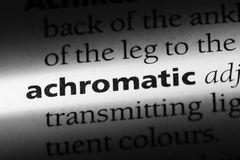 Achromatic. Word in a dictionary.  concept Stock Photo