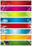 Acht banners Stock Illustratie