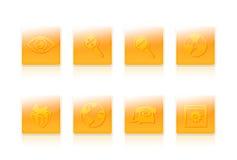 Acht bedrijfspictogrammen Stock Fotografie