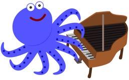 Acht Beine und ein Klavier Stockbild