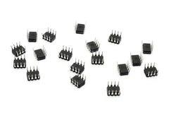 Acht Blei-Mikrochips Stockfotografie