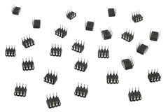 Acht Blei-Mikrochips Lizenzfreies Stockbild