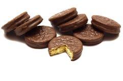 Acht chokolate Plätzchen Lizenzfreies Stockbild