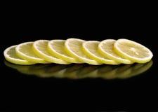 Acht citroenen Stock Fotografie