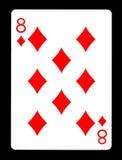 Acht der Spielkarte der Diamanten, Stockbilder