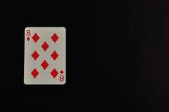 Acht des Diamanten lokalisiert auf einem schwarzen Hintergrund Stockfotos