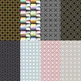 Acht geometrische patronen Reeks van vector naadloos Stock Foto