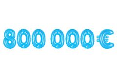 Acht hundert tausend Euros, blaue Farbe Lizenzfreies Stockbild