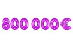 Acht hundert tausend Euros, purpurrote Farbe Stockfotos
