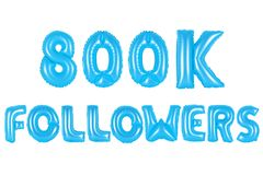 Acht hundert tausend Nachfolger, blaue Farbe Lizenzfreies Stockfoto