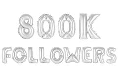 Acht hundert tausend Nachfolger, chromieren graue Farbe Stockfotos