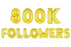 Acht hundert tausend Nachfolger, Goldfarbe Lizenzfreies Stockfoto