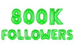 Acht hundert tausend Nachfolger, grüne Farbe Lizenzfreie Stockfotos