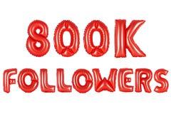 Acht hundert tausend Nachfolger, rote Farbe Lizenzfreies Stockbild