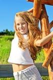 Acht Jahre alte Mädchen Stockfotografie