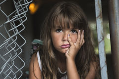 Acht Jahre alte Schulmädchen Stockbild