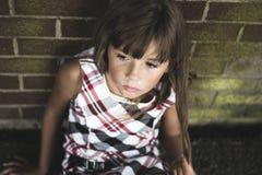 Acht Jahre alte Schulmädchen Stockfotografie