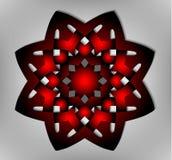 Acht-Keltische ster, vector, embleem, EPS 10 Stock Afbeelding