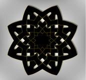 Acht-Keltische ster, vector, embleem, EPS 10 Royalty-vrije Stock Afbeelding