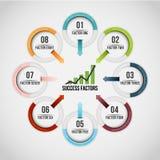 Acht Kreis-Ketten Infographic Stockfotos