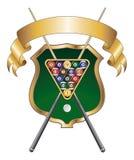 Acht Kugel-Emblem-Auslegung-Farbband Stockbild