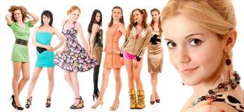 Acht Mädchen Lizenzfreie Stockfotos