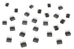 Acht Microchips van het Lood Royalty-vrije Stock Afbeelding