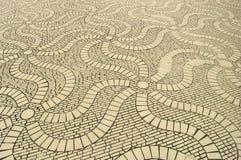 Acht mit Seiten versehenes wellenartig bewegendes wirbelndes Fußboden-Muster Stockfoto