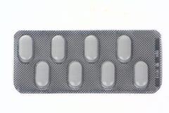 Acht pillenpakket Stock Foto's