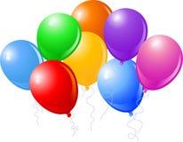Acht schöne Party-Ballone Lizenzfreie Stockfotos