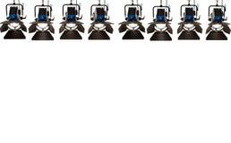 Acht Scheinwerfer. Lizenzfreie Stockfotos