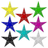Acht Sterne Getrennt Lizenzfreie Stockfotografie