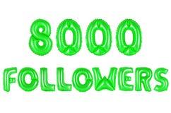 Acht tausend Nachfolger, grüne Farbe Lizenzfreie Stockfotografie