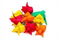 Acht Tulpen des farbigen Papiers Stockbilder